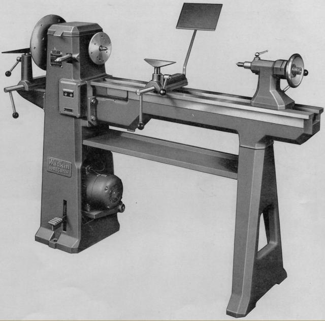 """Wadkin BZL 6"""" x 36"""" wood-turning lathe"""