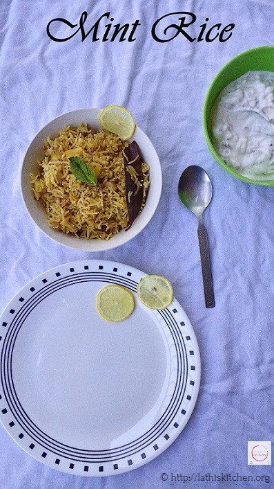 Rice,Mint rice,Indian,Pulao,Lunch,Lunch box