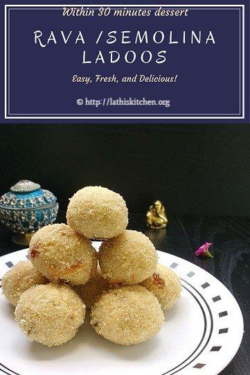 Rava ladoo,Indian,dessert,easy,festive