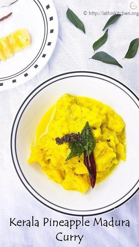 Lunch,Pineapple Madhura Curry,Indain,Rice,Vegetarian,fruit