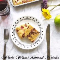 Whole Wheat Almond Nutella Sheet Pancake
