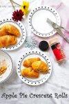 Apple pie crescent rolls, Crescent rolls, dessert, baking,Kids,easy,Christmas,Fruit