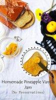 Pineapple Vanilla Jam, Homemade Jam,Jam,Condiments,Fruit,Vegetarian,Kids