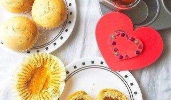 Gulab Jamun Cupcakes/Muffins,Cupcakes,Muffins,Baking,Valentine's day,Kids,stuffed cupcakes