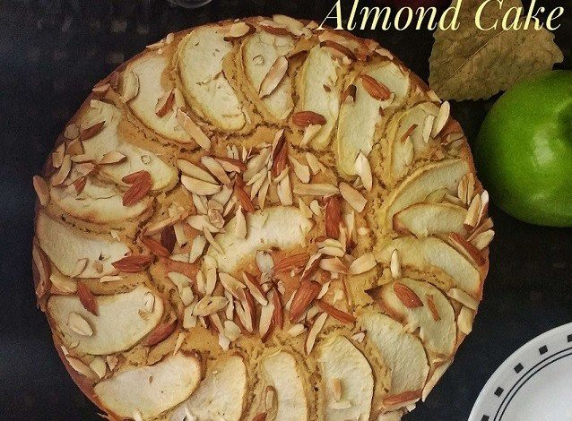 Whole Wheat Apple Almond Cake,Apple,Cake,Baking,Fall,Almonds,Snack,Dessert,Kids