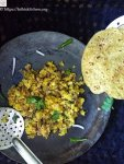 Zunka,Indian,Side dish,Maharashtra,Roti,besan,Vegetarian,Easy