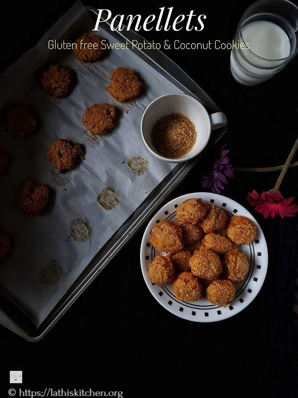 Panellet,Cookies,Sweet potato Coconut Cookies,Gluten free,Dessert,Kids,Easy,Christmas