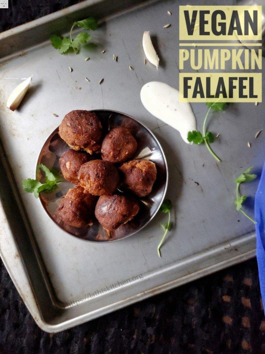 Vegan Pumpkin Falafel,Falafel,Vegan,Fritters,Pumpkin,vegetarian,Chickpeas