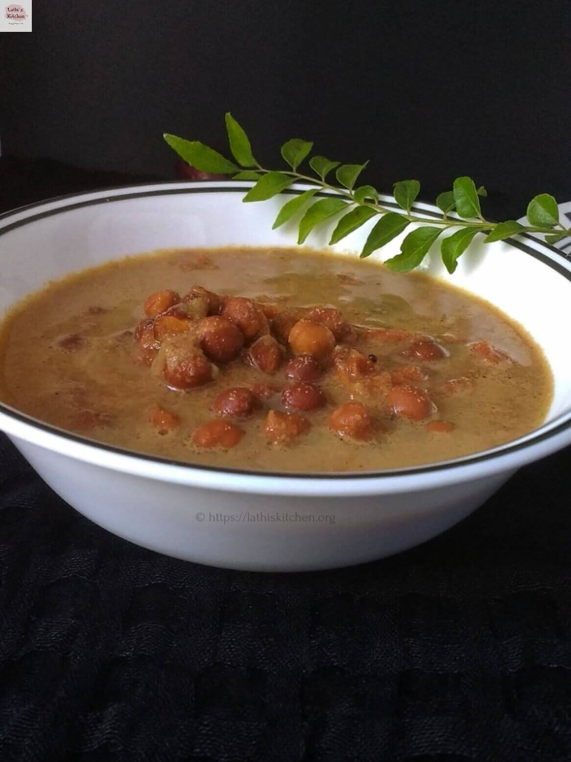kadala curry, Kerala kadala curry, Kadal curry in pressure cooker,Chickpeas curry with coconut