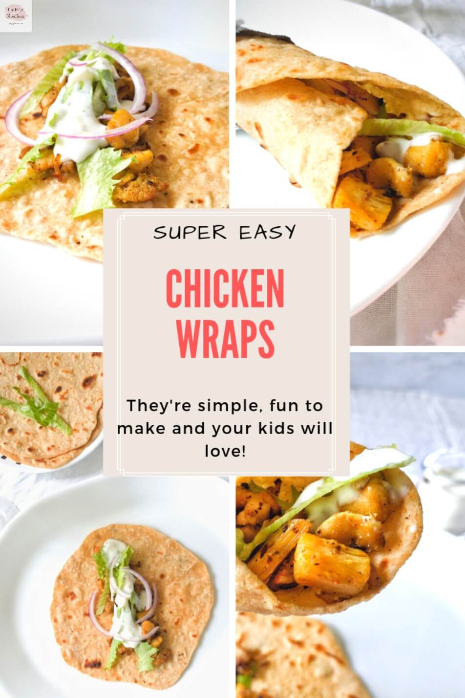 Chicken wrap, easy chicken wraps, lunch idea,Chicken, quick chicken wrap
