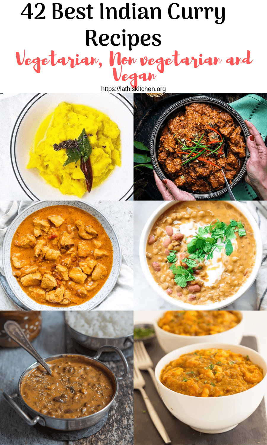Collection of Indian Curries.