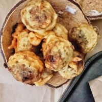 Sukhiyan/ Sugiyan - Vegan Mung bean fritters {sweet}