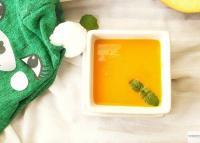 Bowl of Vegan Pumpkin Carrot Soup.