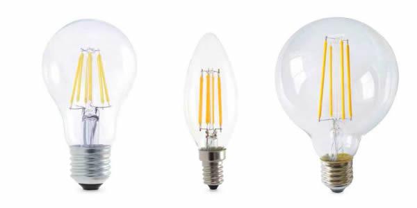 Bombillas LED serie oro con filamente