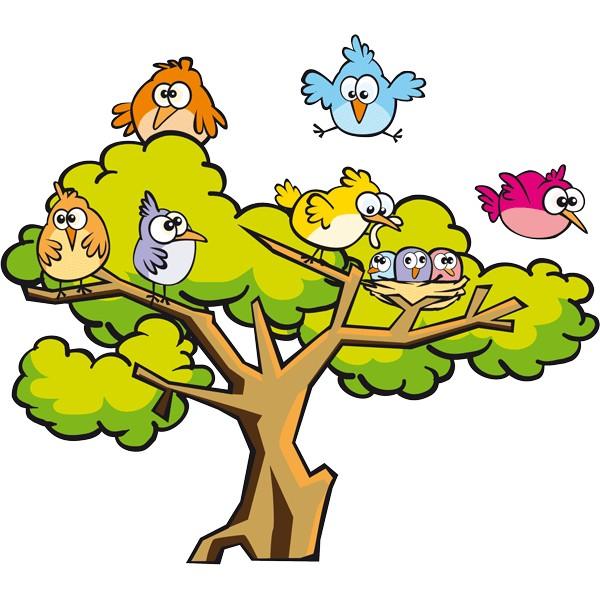 Resultado de imagen para pajaritos árbol