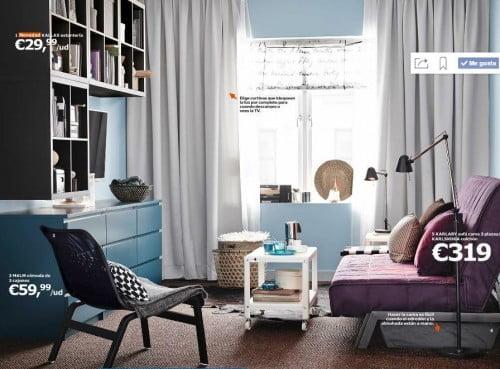 6 ideas para decorar salones pequeos de IKEA