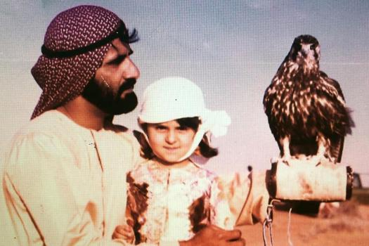 Sheikh Mohammed with Manal, his daughter with Banna