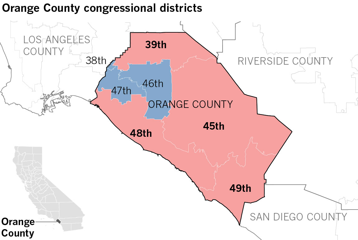 There S A Rising Democratic Tide In Orange County Will It Be Enough To Capture These Critical U S House Seats Los Angeles Times