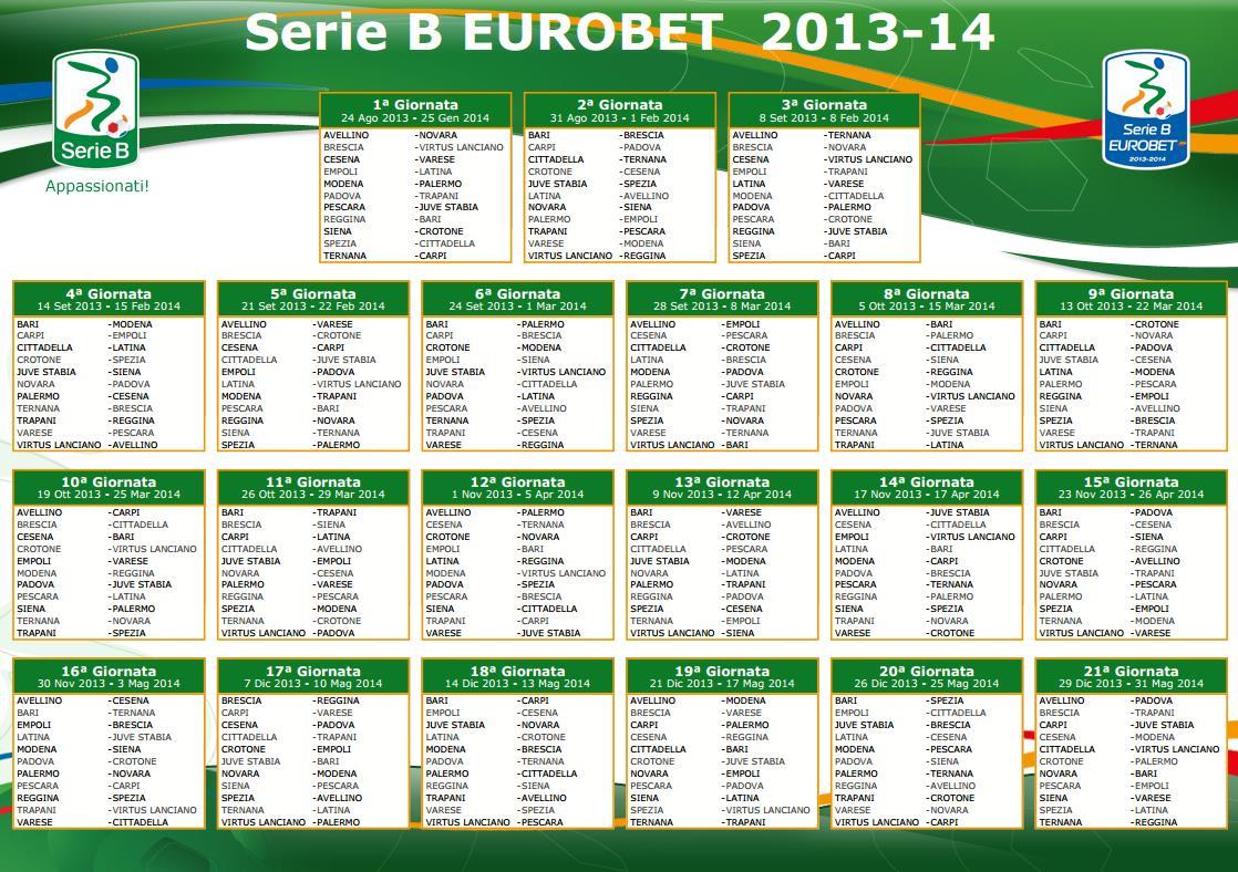 Palermo Calcio Calendario.Calcio Calendario Serieb Latina 24ore 001 Latina 24ore It