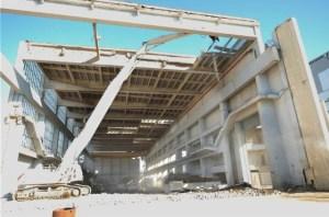Centrale di Latina - Lo smantellamento dell edificio turbine
