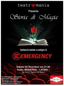 Locandina Emergency - Teatromania 5 Dicembre - Teatro moderno