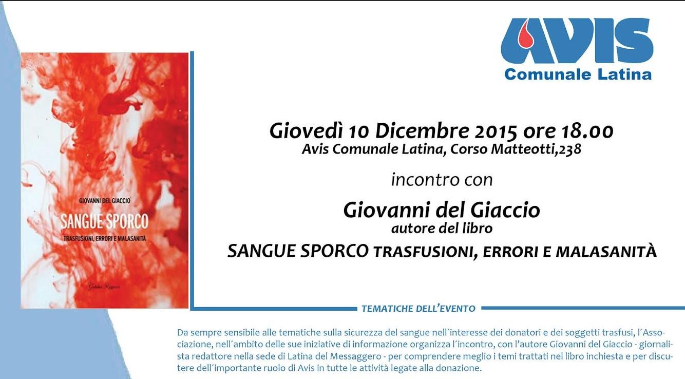 Presentazione Latina All'avis Giovanni Sporco Sangue Del La Di 6nFnfAq