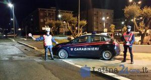 carabinieri-latina-posto-blocco-auto-notte