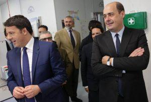 Matteo Renzi e Nicola Zingaretti (Fonte: Il Messaggero)