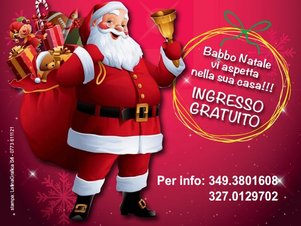 Babbo Natale Whatsapp.Anche A Latina Arriva La Casa Di Babbo Natale Latina 24ore It