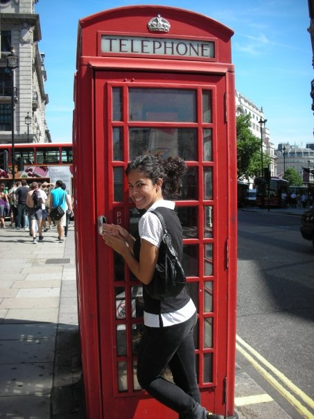 London phone booth photo
