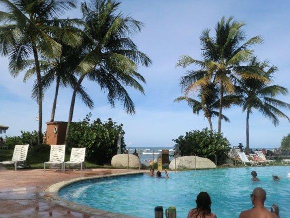 pool of Embassy Suites hotel, Dorado, Puerto Rico