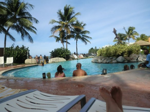 FriFotos pool of Embassy Suites hotel, Dorado, Puerto Rico