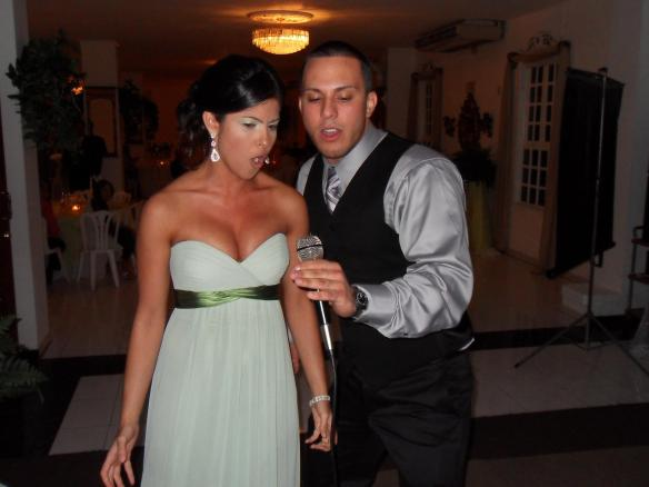 Puerto Rican wedding karaoke