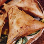Ethiopian food sambusa