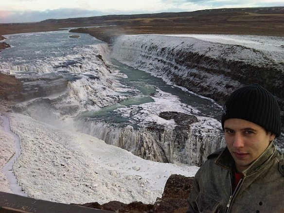 frozen Gullfoss Iceland waterfalls photos