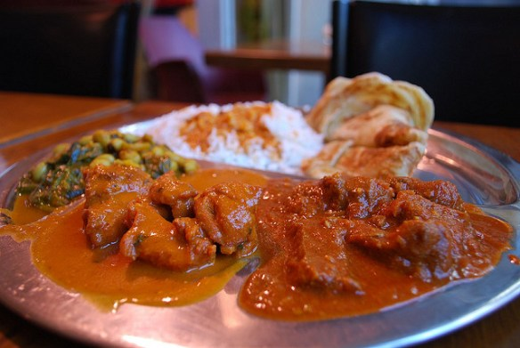 Indian goat vindaloo curry
