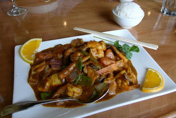 Asian curries list, Malaysian shrimp curry
