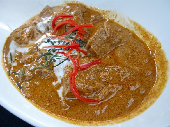 Asian curries list, Thai panang curry beef