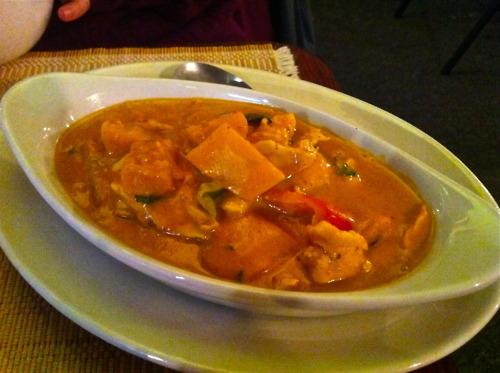 Asian curries list, Thai pumpkin curry