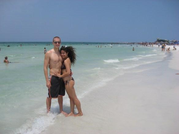 Siesta Key beach FL couple