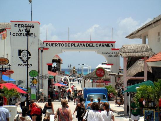 Playa Del Carmen port on Quinta Avenida
