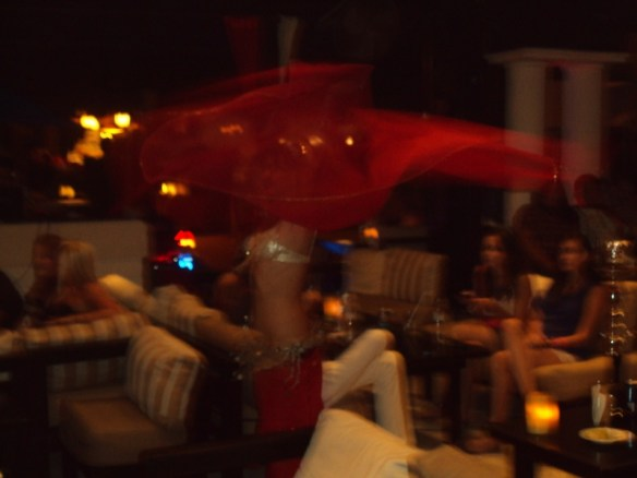 Playa Del Carmen nightclubs review, belly dancer