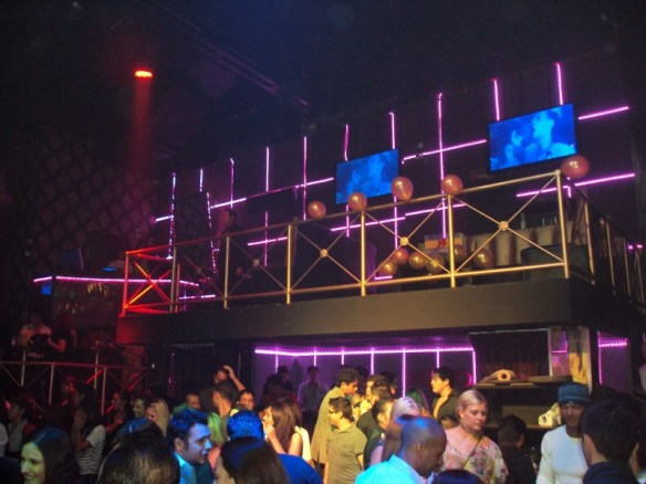 Playa Del Carmen nightclubs review: Palazzo VIP balcony