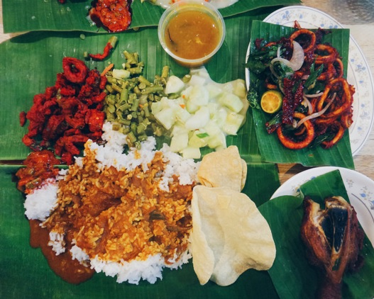 Malaysia foodie guide, banana leaf meal
