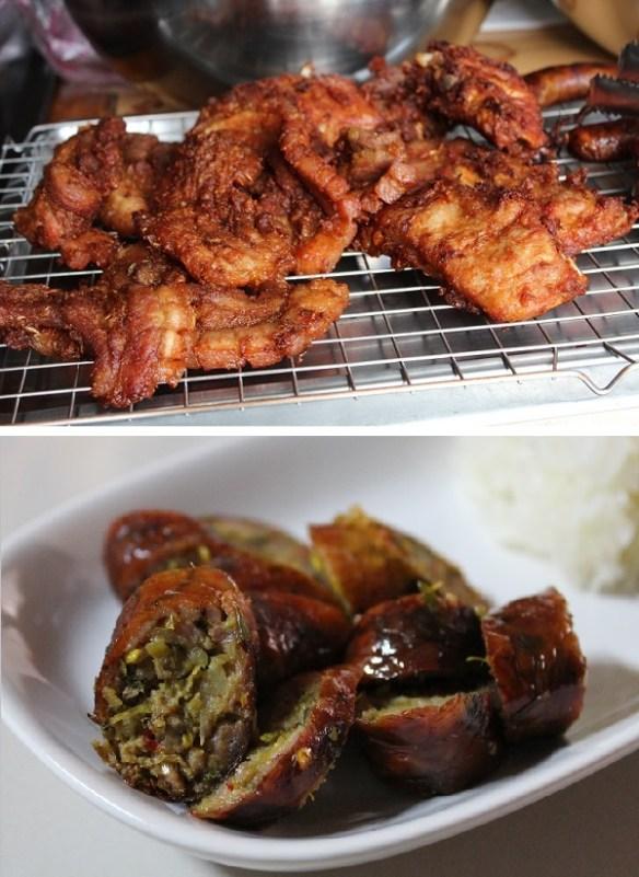 Chiang Mai pork, sai uah and moo tod