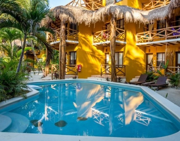 Holbox beachfront hotel, off-the-beaten-path Yucatán Mexico