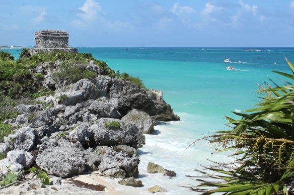 The coastal Mayan city of Tulum