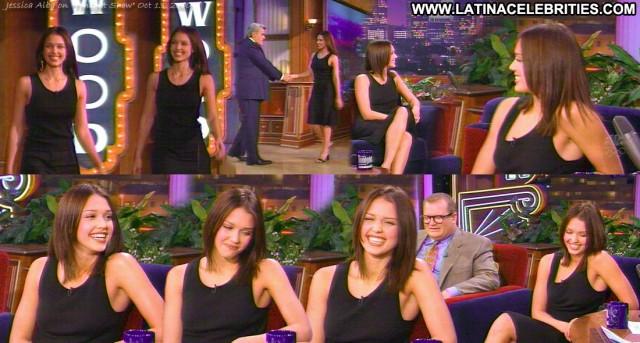 Jessica Alba The Tonight Show Latina Skinny Brunette Stunning Posing