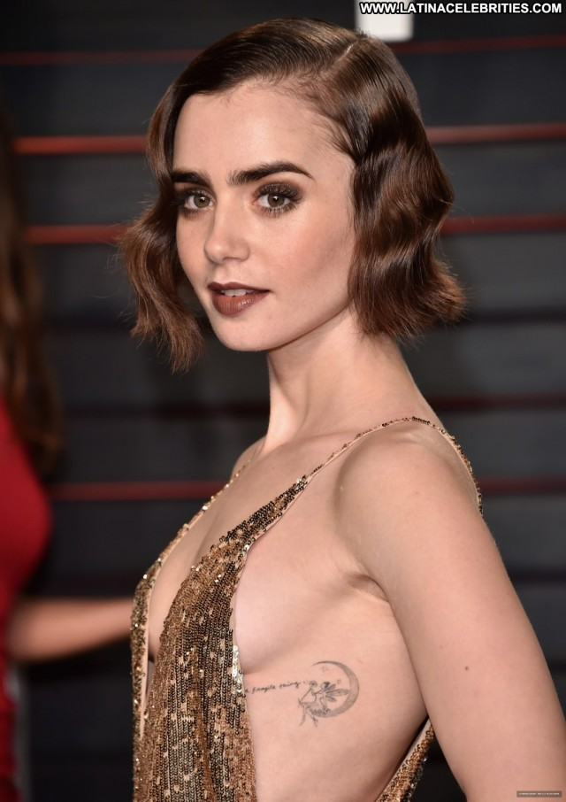 Lily Collins Miscellaneous International Pretty Sexy Brunette Small