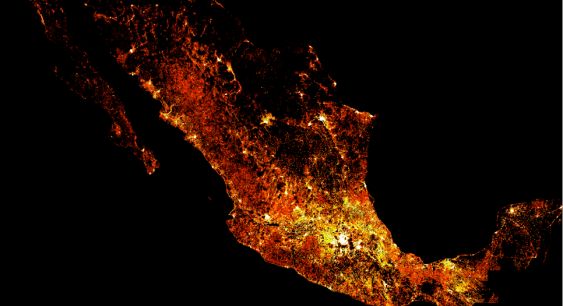 High-resolution map mexico Facebook mapa de alta resolución población de México